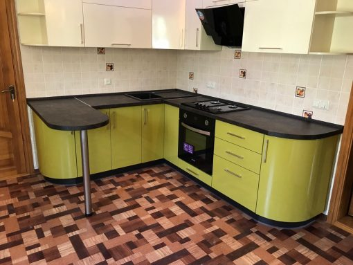 Зеленая кухня на заказ Николаев